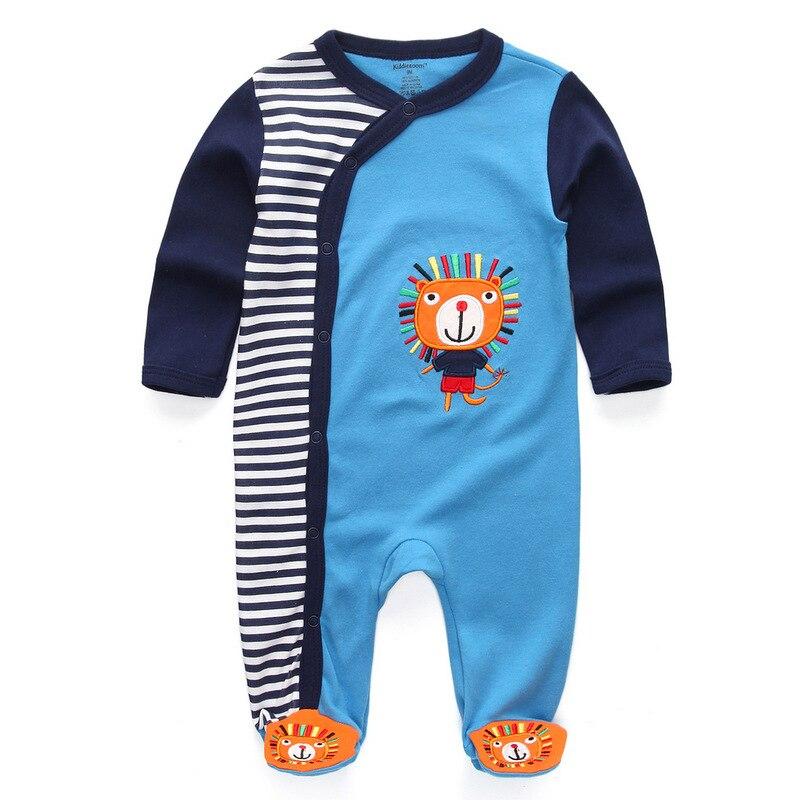 Для маленьких девочек сна; одежда для сна с мультяшным рисунком для малышей Детские пижамы хлопок Длинные рукава Детские пижамы с надписью «i love daddy» детские комбинезоны с рисунками - Цвет: baby blue