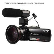 ORDRO HDV-Z82 3.0 «TFT LCD Écran Tactile Numérique 120x Zoom Optique 10X HD Caméscope Caméra Hot Shoe 24MP HDMI Soutien Microphone