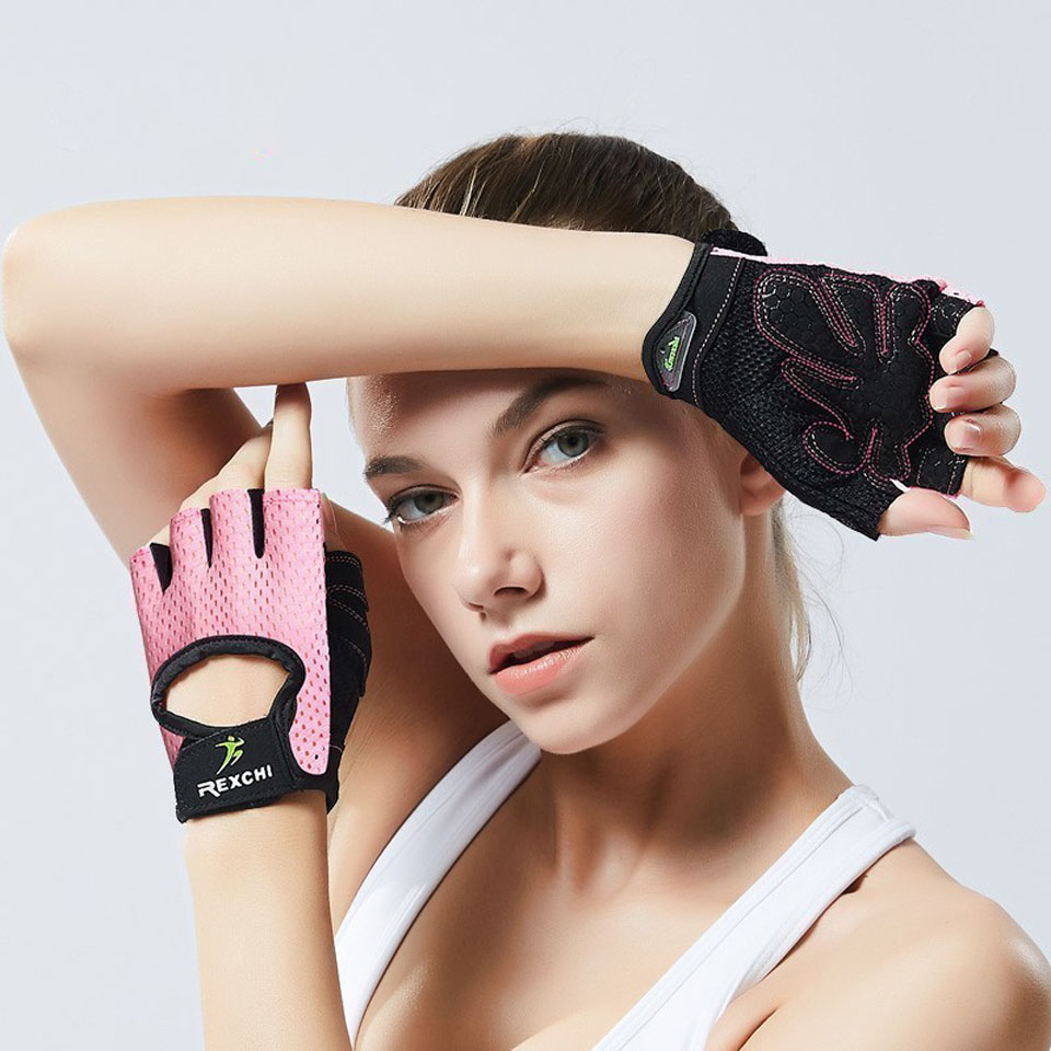 Professional Gym Fitness Gloves Power Weight Lifting Women Men Crossfit Workout Bodybuilding Half Finger Hand Protector