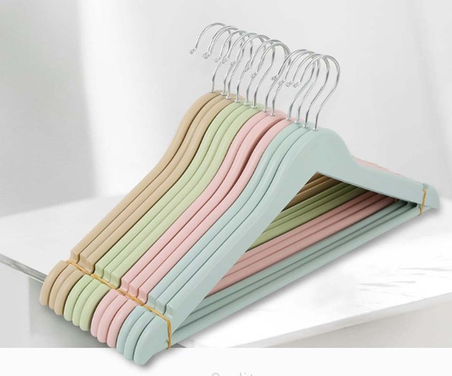 Doreen Box Colorful Multifunctional Clothes Hangers Metal Plastic Rack Outdoor Drying Clothing Coat Closet Organizer 1pc