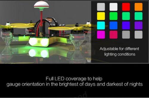 Emax Nighthawk Pro 200 200mm F3 FPV Racing Drone PNP with 5.8G 48CH 25-200mW VTX 600TVL CCD Camera (7)