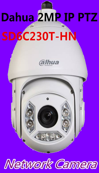 Dahua 2MP IP PTZ Speed dome Camera Support Face Detection and SD Card SD6C230T-HN , free DHL shipping free shipping multi langauge version ds 2cd4124f iz 2mp ir dome motorize smart ipc support face detection with sd card slot