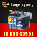 4PCS LC699XL 699 XL LC695XL 695 XL BK C Y M  Remanufactured ink cartridge For Brother MFC-J2720 MFC-J2320 PRINTER