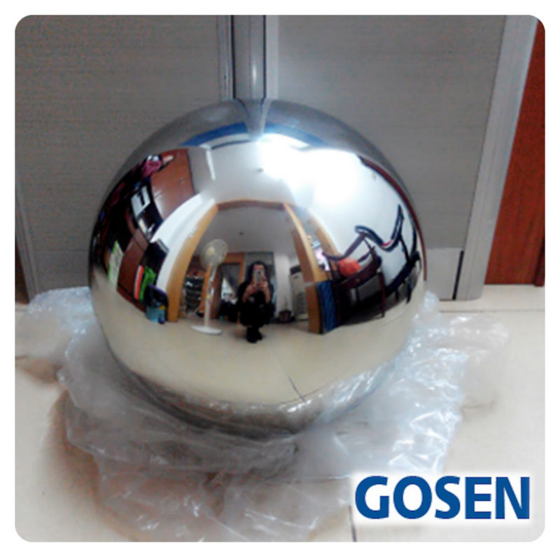 ФОТО 1 PCS 250MM Stainless Steel Hollow Ball Mirror Polished Shiny Sphere For Garden Ornament Free Shipping
