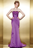 Vestido de festa curto Бесплатная доставка халат de soiree 2018 новые модные пикантные Кристалл Фиолетовый Длинные вечерние платья подружки невесты