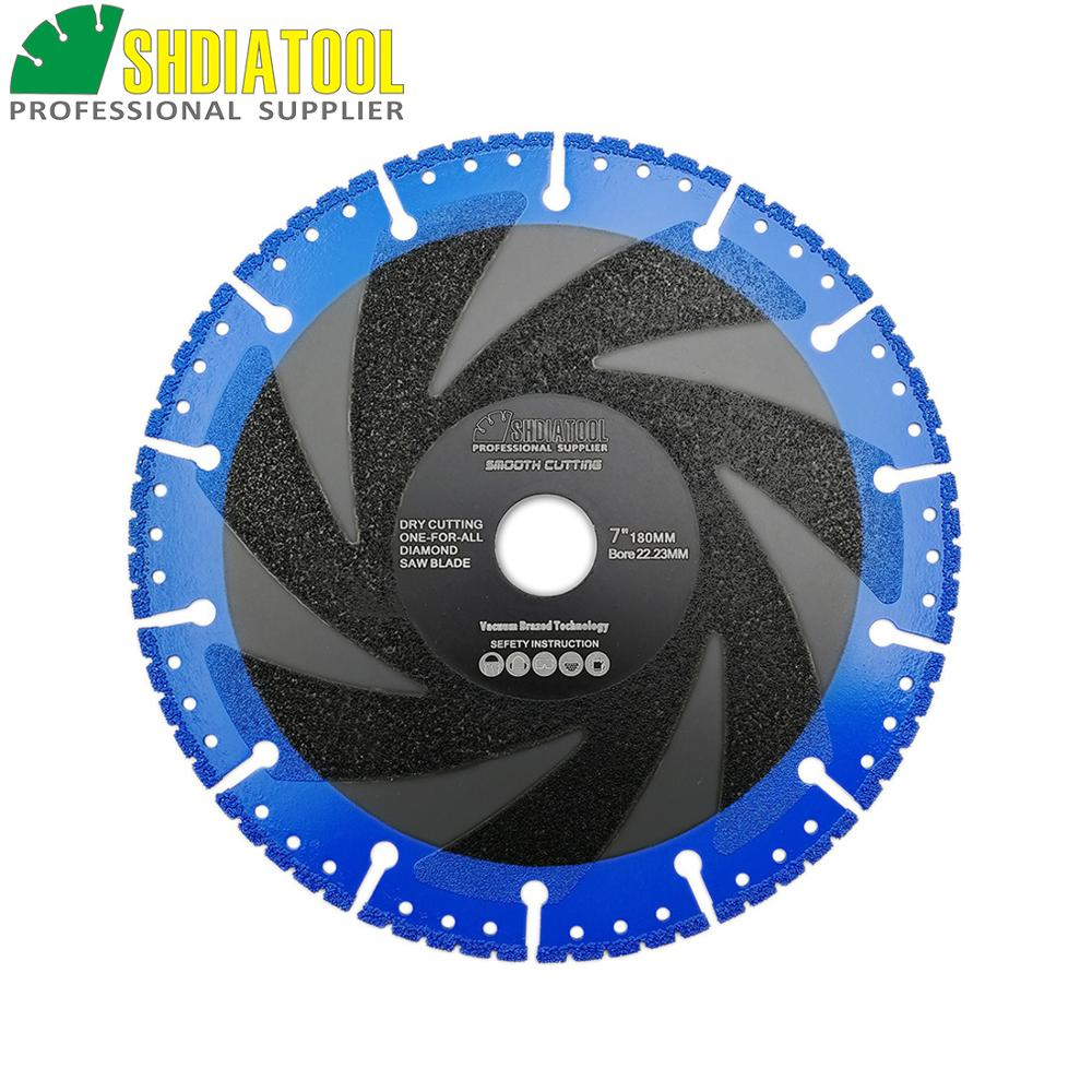 Image 3 - SHDIATOOL 1 pc Vacuum Brazed Diamond blade multi Purpose cutting disc Cast Iron Rebar Aluminum Steel Plastic PVC Stone saw blade-in Saw Blades from Tools