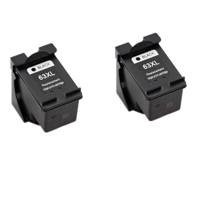 2 pcs For HP 63XL 63 Ink Cartridge For HP Deskjet 2130 2132 3630 3632 1112 Officejet 3830 4650 4652 4652 ENVY 4516 4512 4520