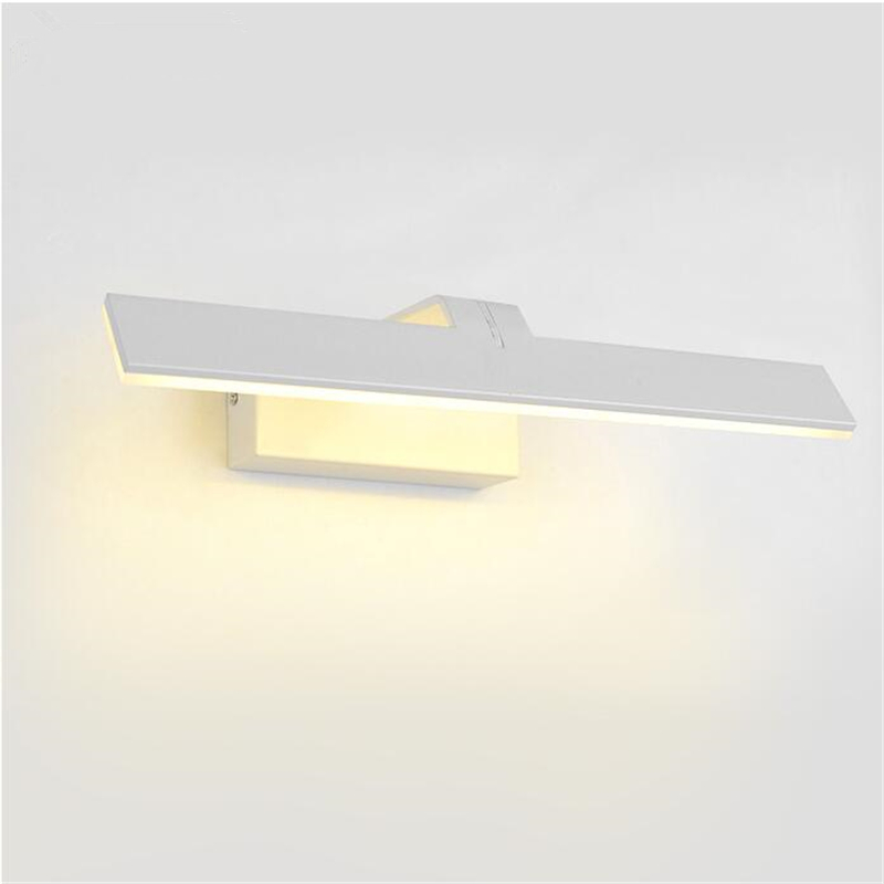 Белый скандинавский акрил, металл Спальня настенный светильник светодиодный свет Ванная комната зеркало свет Кухня Современные настольны