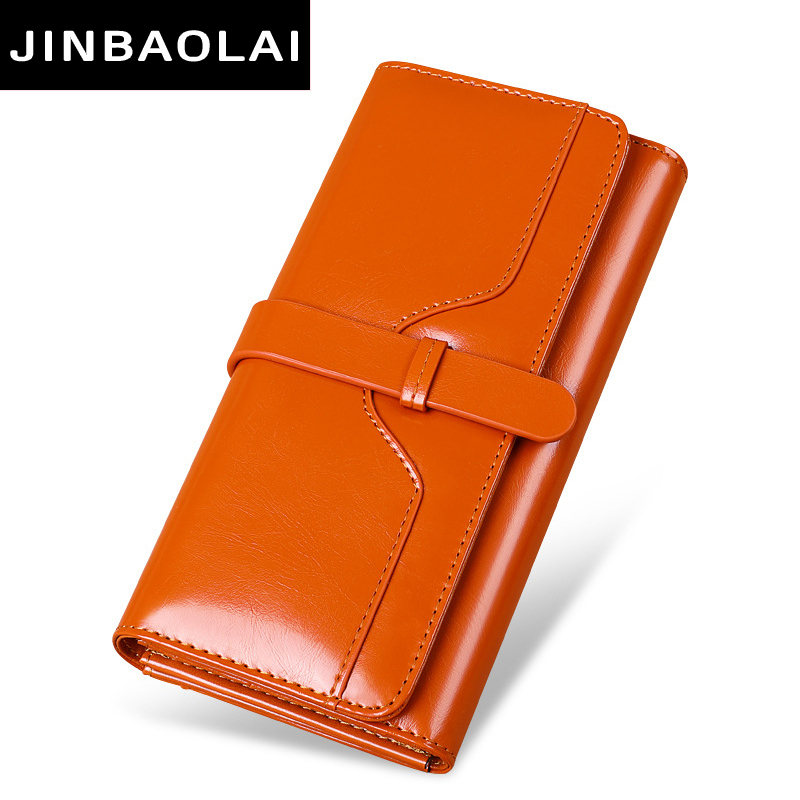Hot Sale Women Clutch 2018 New Wallet Genuine Leather Wallet Female Long Wallet Women Zipper Purse Strap Coin Purse For IPhoneX new women fashion leather hasp tri folds wallet portable multifunction long change purse hot female coin zipper clutch for girl