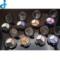 2016 Moda Professional Basics Paleta 3 Cores de Sombra Paletas da Sombra de Olho Esfumaçado Com Espelho Escova Cosméticos Maquiagem Ha7