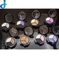 2016 Sombra de Ojos Profesional Moda Basics Paleta 3 Colores de Sombra de Ojos Ahumada Paletas Con Espejo Cepillo Cosméticos Maquiagem Ha7