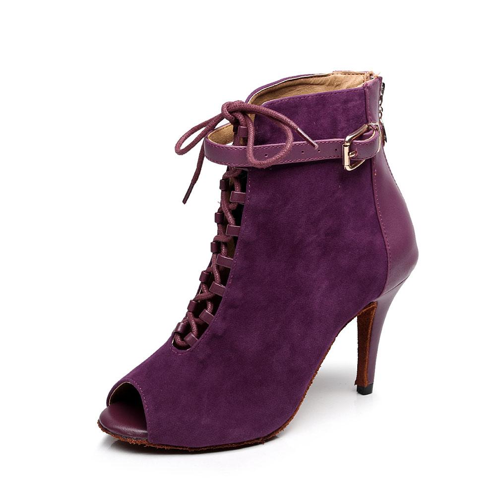 bestselgende dame høyhælestøvler festdanse støvler 7,5 cm hæl støvel