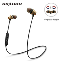 S10 Wireless Bluetooth Earphone Sport Waterproof Hifi Super Bass Stereo Music Headset Magnetic Earphone With Microphone