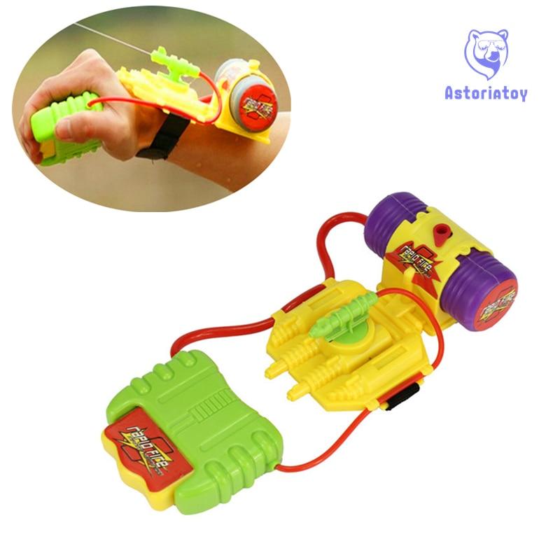 New Intelligent Children Favorite Summer Beach Toys Educational Water Fight Pistol Swimming Wrist Water Guns