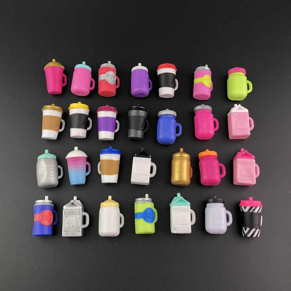 2 قطعة زجاجة تغذية دمى LOL عدد كبير من الأنماط دمى أصلية إكسسوارات للبيع مجموعة LOL