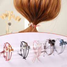 2018 new Hair Band Girls Brief 1PC Korean three-in-one Women Elastic Hair Band Hair Accessories Hair Rope all-match Crystal(China)