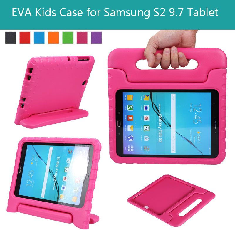 EVA Shockproof Case Light Weight Kids Case Super Protection Cover Handle Stand Case For Samsung Galaxy Tab S2 9.7 inch T810 t815