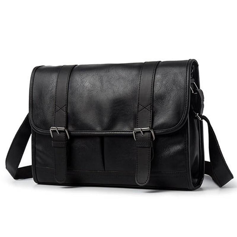 Fashion Man Leather Shoulder Bags Travel Bag Men Briefcase Brand Luxury Messenger Bag Male Laptop Business Crossbody Men Bag