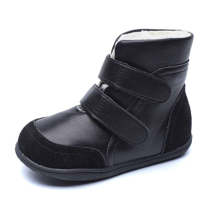 Genuine Leather Boy Girls Winter Boots For Kids Baby Girls Shoes Fashion Plush Childrens Snow Boots <font><b>1</b></font> 2 3 4 <font><b>5</b></font> 6 7 8 9 <font><b>10</b></font> Years image