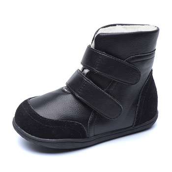 Genuine Leather Boy Girls Winter Boots For Kids Baby Shoes Fashion Plush Childrens Snow 1 2 3 4 5 6 7 8 9 10 Years