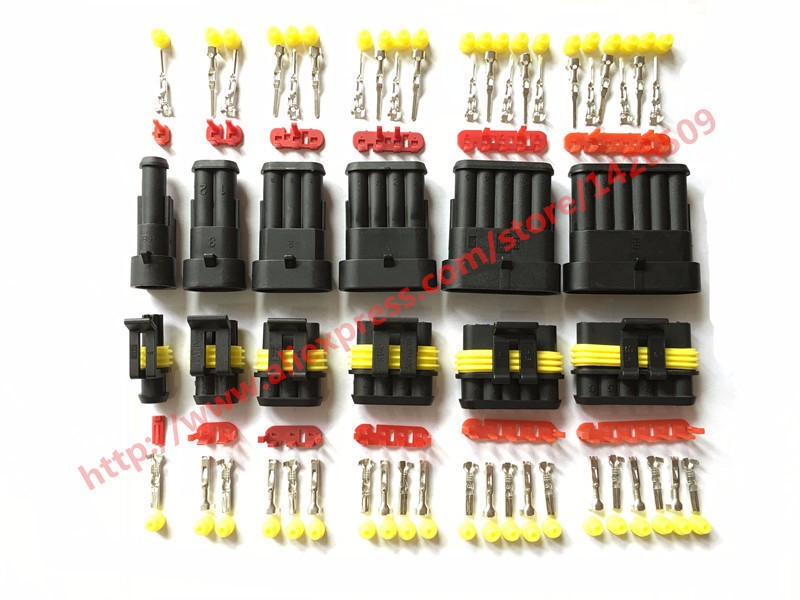 6 sets super seal amp tyco connector 1 5 kit 1 2 3 4 5 6. Black Bedroom Furniture Sets. Home Design Ideas
