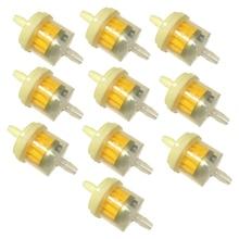 10 sztuk 6mm 1/4 Cal uniwersalny benzyna Inline filtry paliwa dla motocykli samochodów motor terenowy skuter itp benzyny Inline filtry paliwa