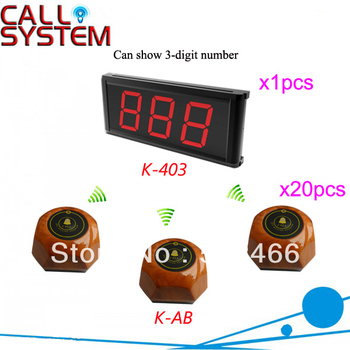 Hot Sale Digital Pager System for Karaoke K-403+AB LED display 3-digit number and button can be personalized Shipping Free