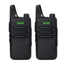 2pcs Portable Radio WLN KD-C1 Mini Wiress Walkie Talkie UHF Handheld Two Way station Communicator Transceiver ham radio