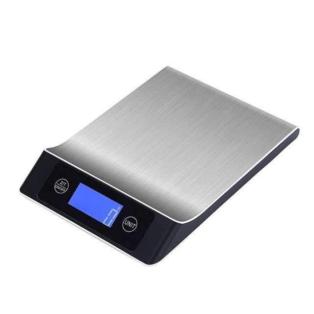 5kg 1g Lcd Digital Scale Cooking Measure Tool High Precision Kitchen Stainless Steel Electronic