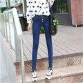 jeans woman blue button pencil denim pants slim legs summer autumn trousers jeans