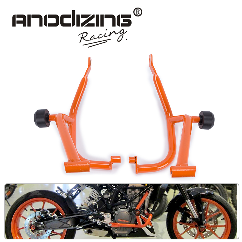 Motorcycle Refit Tank Protection Bar Protection Guard Crash Bars Frame For KTM DUKE 200 DUKE200 motorcycle front rider seat leather cover for ktm 125 200 390 duke