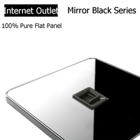 Coswall Brand RJ45 Internet Socket Luxury Wall Network Outlet Acrylic Crystal Mirror Panel Electrical Computer Jack