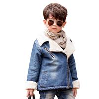 Winter Jacket For Boys Thick Cashmere Children Denim Jacket Coat 2 6 Years Kids Outerwear & Coats Baby Boys Parka Infant Clothes