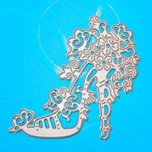 YLCD708 Princess Shoe Metal Cutting Dies For Scrapbooking Stencils DIY Album Cards Decoration Embossing Folder Die Cutter Mold