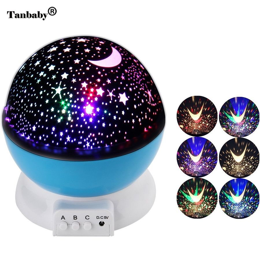 Tanbaby Star Moon Sky Rotation automatique Rêve LED Night Light - Veilleuses - Photo 2