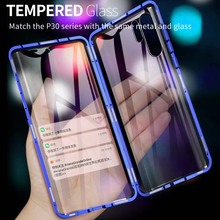 Luxury Magnetic Case For Huawei Honor20 20pro 360 Front+Back Double-Sided 9H Tempered Glass Screen Metal Bumper Cover KS0253 цена