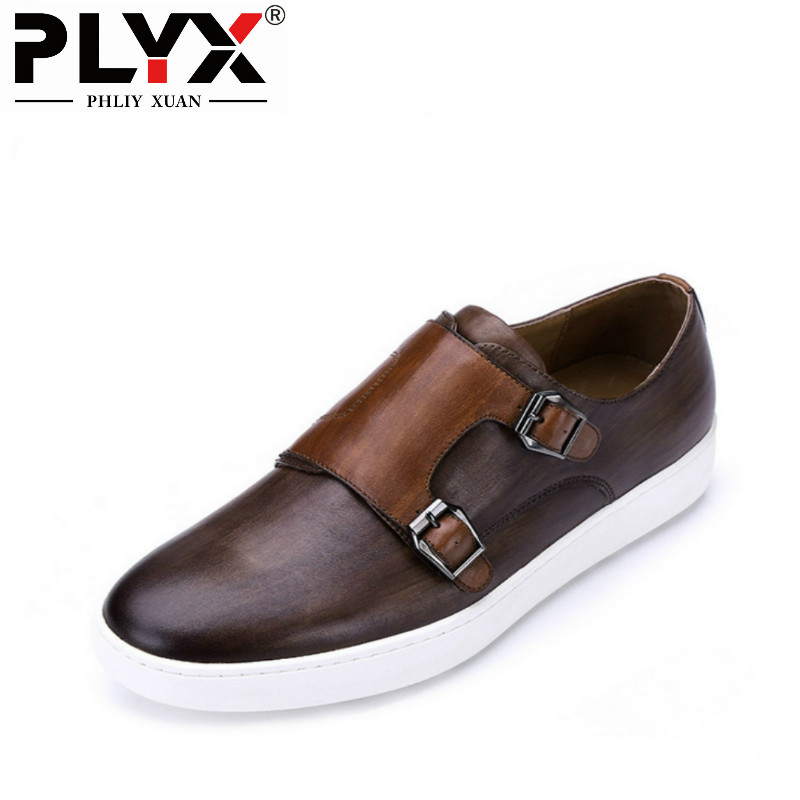 PHLIY XUAN 2018 British Style Mens Casual Shoes 100% Handmade Genuine Leather Men Loafers Sapato Masculino Chaussure Homme fs british style 100