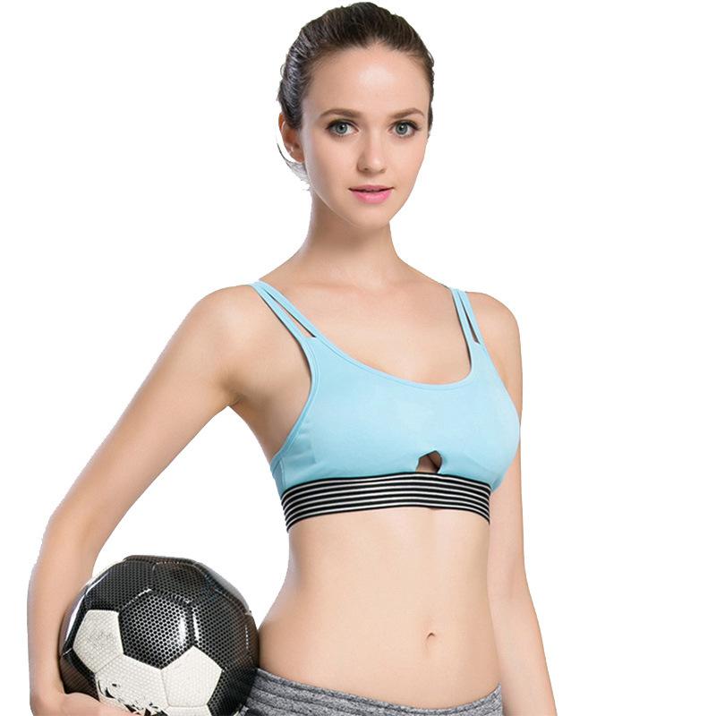 37afdb9981b83 Girls  Sports Bra Underwear Women Fitness Top Run Yoga Push Up Cut Out  Underbust Breathable Padded sosten deportivo