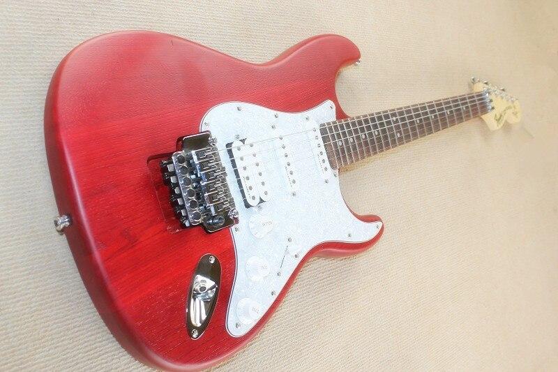 st model double wave electric guitar matte red crankwood guitar body only double pickup finger. Black Bedroom Furniture Sets. Home Design Ideas