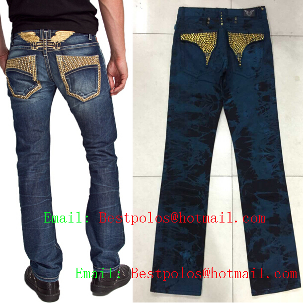 2015 New Blue Robin jeans mens robin denim pants famous brand men Straight Cotton Denim Jeans Large Size 40 42 - Yuchen Store store