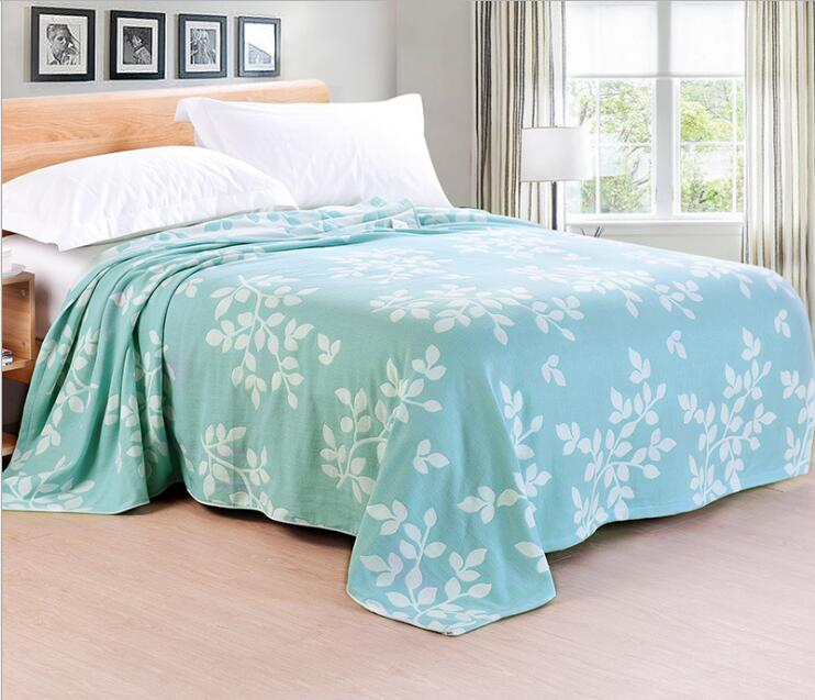 Us 35 85 30 Off 2017 New Cotton Towel Blanket 1pc 100 On Bed Jacquard Throw Air Condition In Blankets From Home