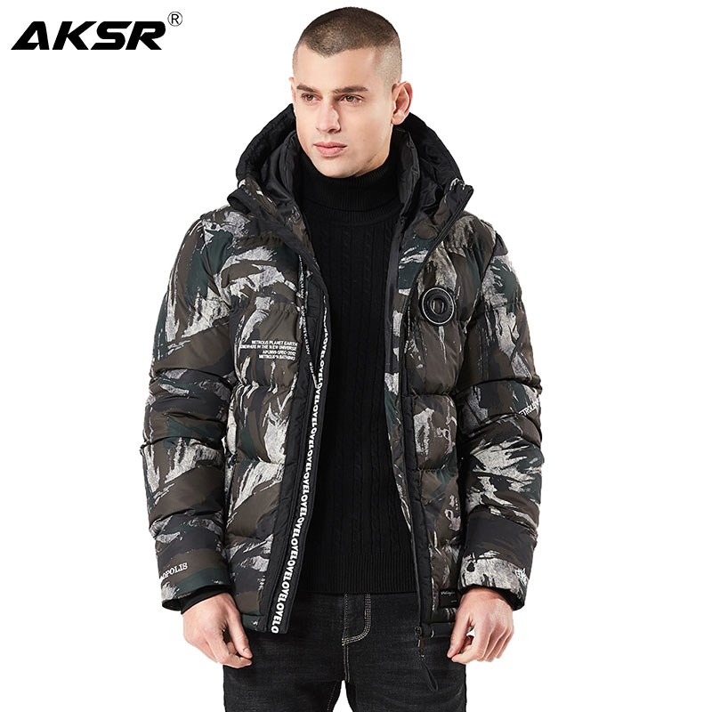 AKSR 2019 Winter Men Hooded Parka Jackets Windbreaker Parkas Men Camouflage Thicken Jacket Coat Winter Jacket Jaqueta Masculino