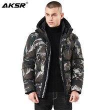 AKSR 2019 Winter Men Hooded Parka Jackets Windbreaker Parkas Camouflage Thicken Jacket Coat Jaqueta Masculino