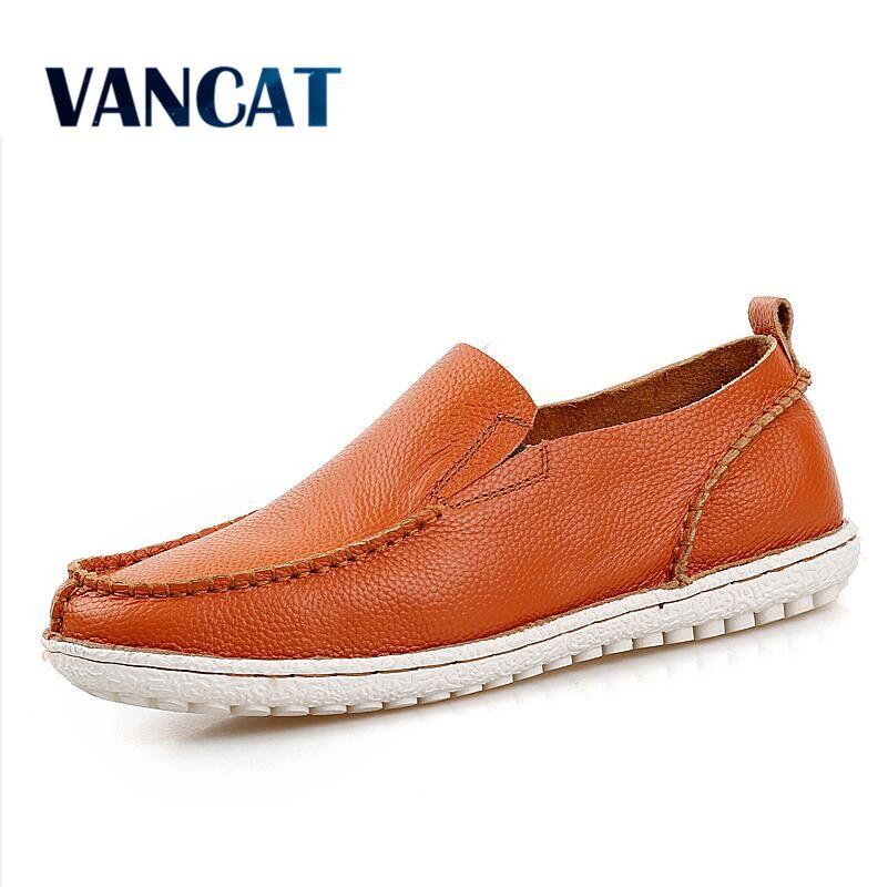 VANCAT 2018 Fashion New Men Loafers Casual Driving Shoes Leather Genuine Loafers Man Shoes Luxury Flats Shoes Mens Moccasin mens s casual shoes genuine leather mens loafers for men comfort spring autumn 2017 new fashion man flat shoe breathable