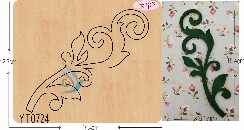 Leaf 10 DIY new wooden mould cutting dies for scrapbooking Thickness 15 8mm YT0724
