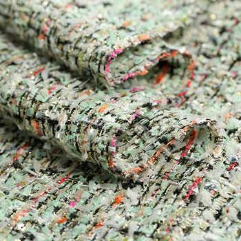 143 ซม. กว้าง 350 กรัม/เมตรสีเขียวถัก Tweed อะคริลิคผ้าฝ้ายโพลีเอสเตอร์ผ้าสำหรับฤดูใบไม้ร่วงฤดูใบไม้ผลิชุดเสื้อ DE997
