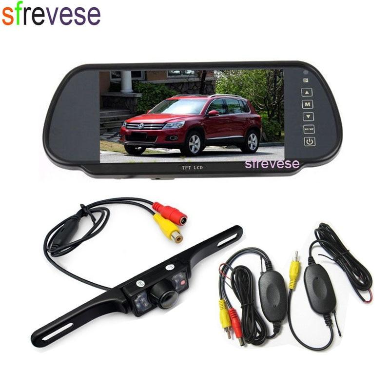 Wireless 7 IR Night Vision Parking Reverse Backup Camera Waterproof + 7