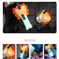 Auto Accessories Sefety Cover Child Shoulder Cute Cartoon Seat Belt Protector for BMW E46 E36 Audi A5 A4 Benz Amg W204 W203 W211