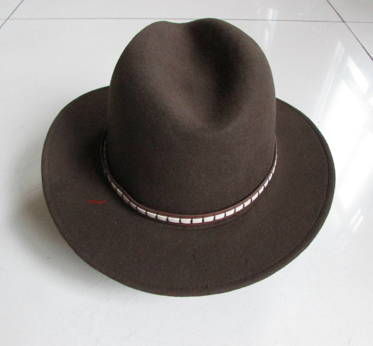 Wool Fedora Hat Luxury Felt fedoras Hat Wide Brim Woolen Cap Toper Bucket  Hat Adornment Men Women Fedoras Hat B-8116 8c4de81b131