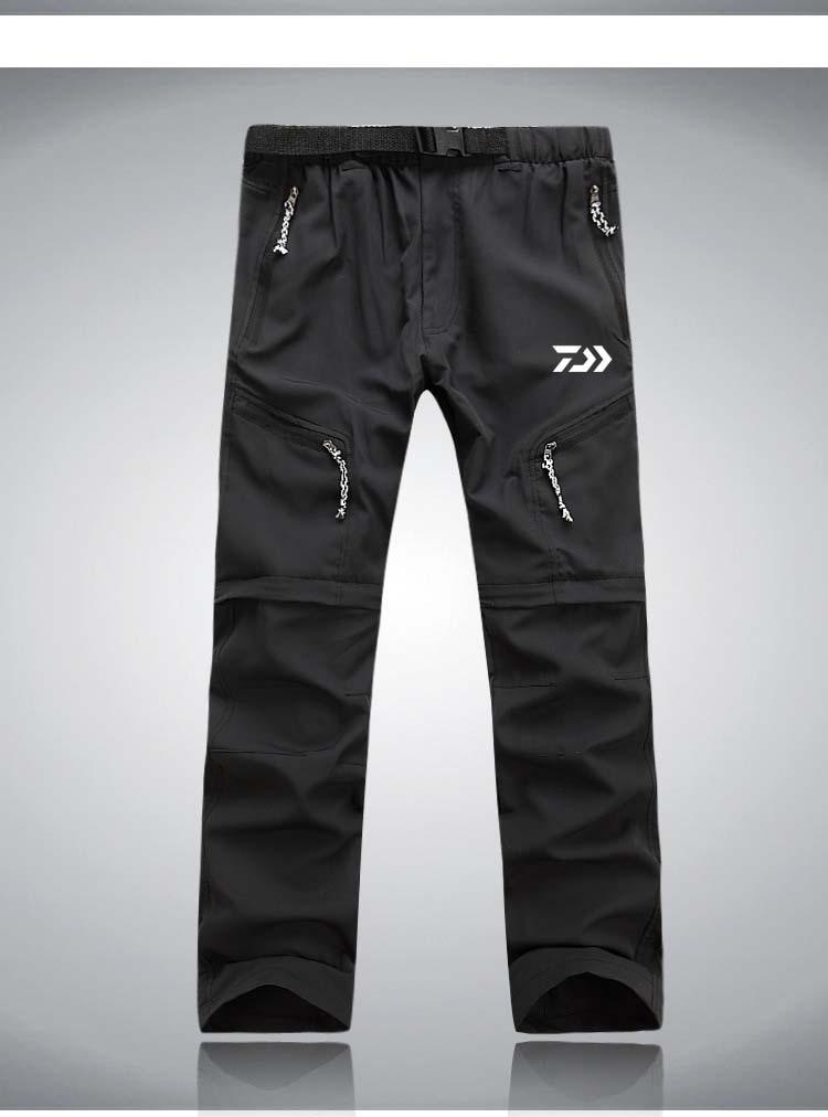 DAIWA Men's Quick Dry Detachable Hiking Pants Outdoor Sport Summer Camping Trekking Fishing Shorts Breathable Fishing Thousers